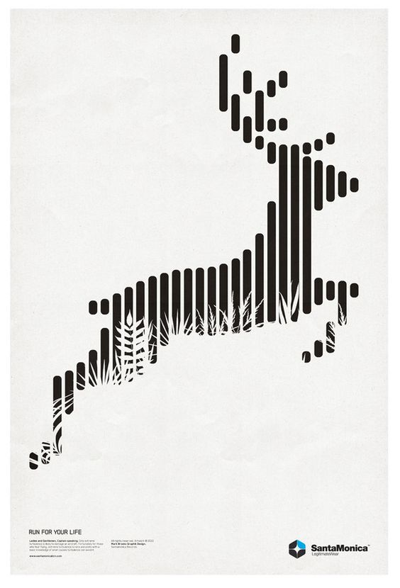 Santa Monica Minimalist Poster