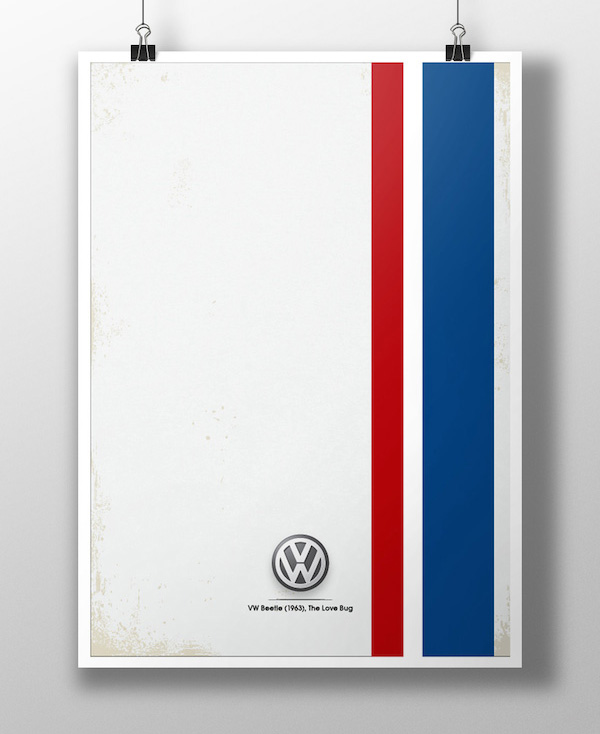 VW Beetle Minimalist Poster