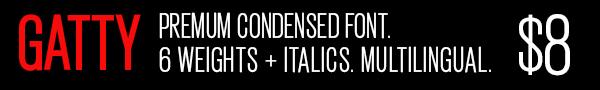 Gatty Condensed Font
