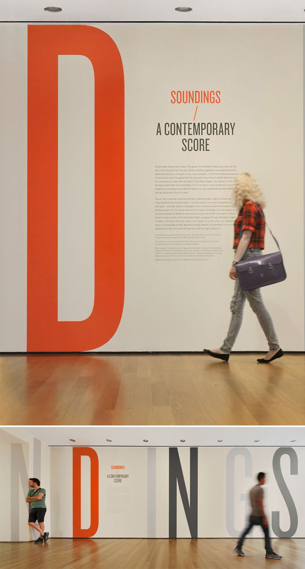 Soundings - minimalist typography wall art
